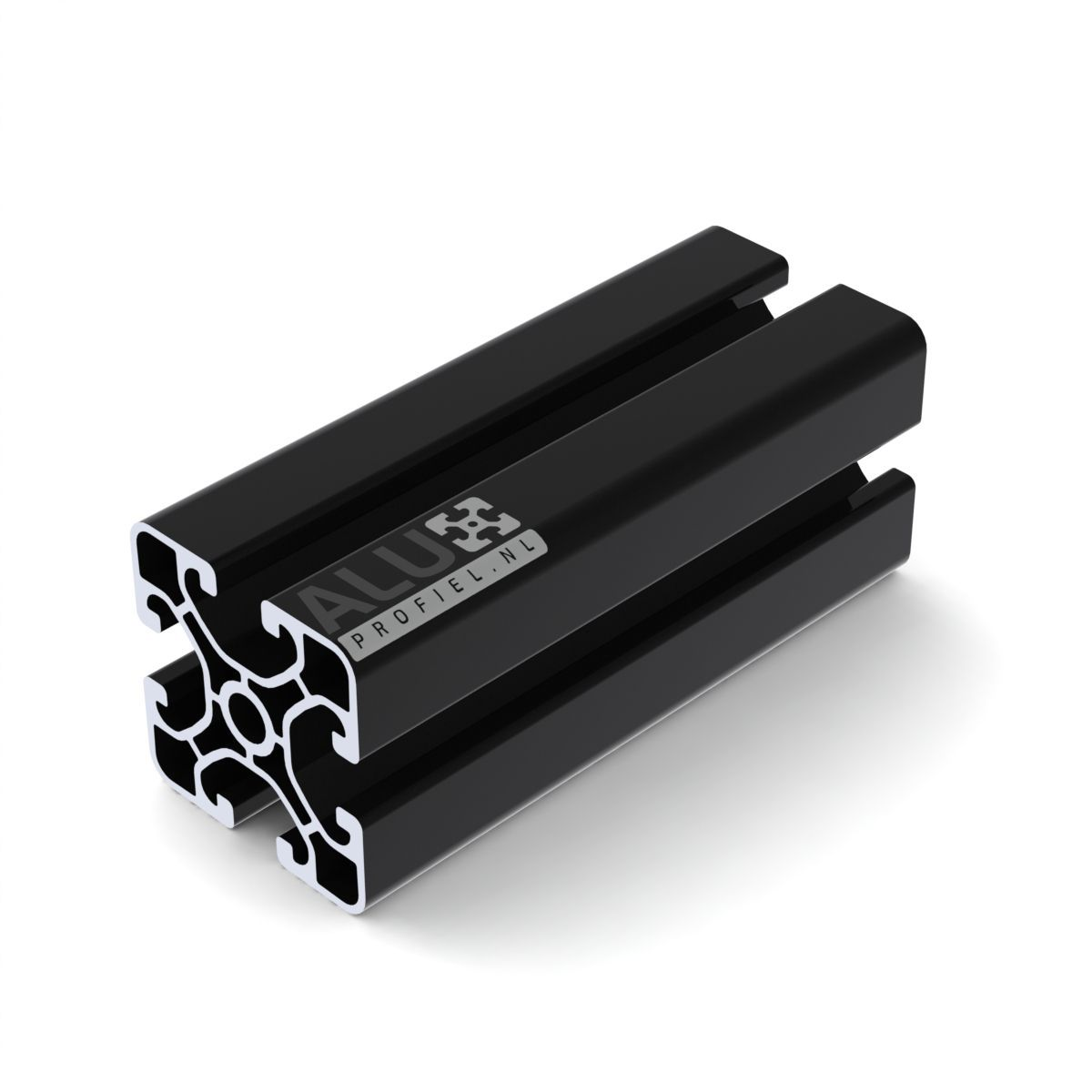 aluminium constructieprofiel 40x40 zwart