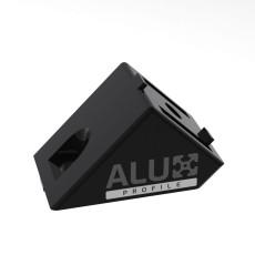 Profielverbinder 4040 - 45 graden zwart