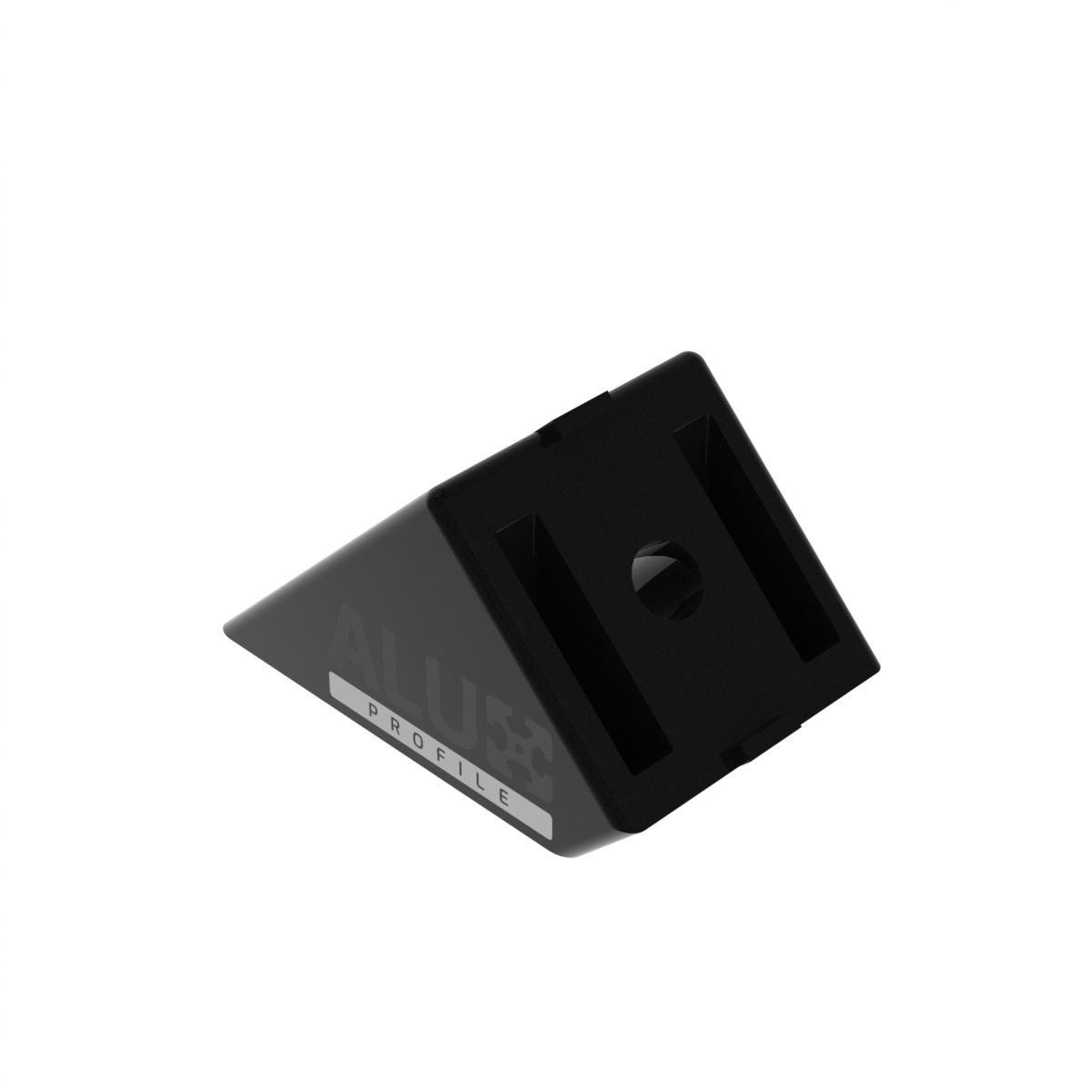 profielverbinder 4040 45 graden zwart