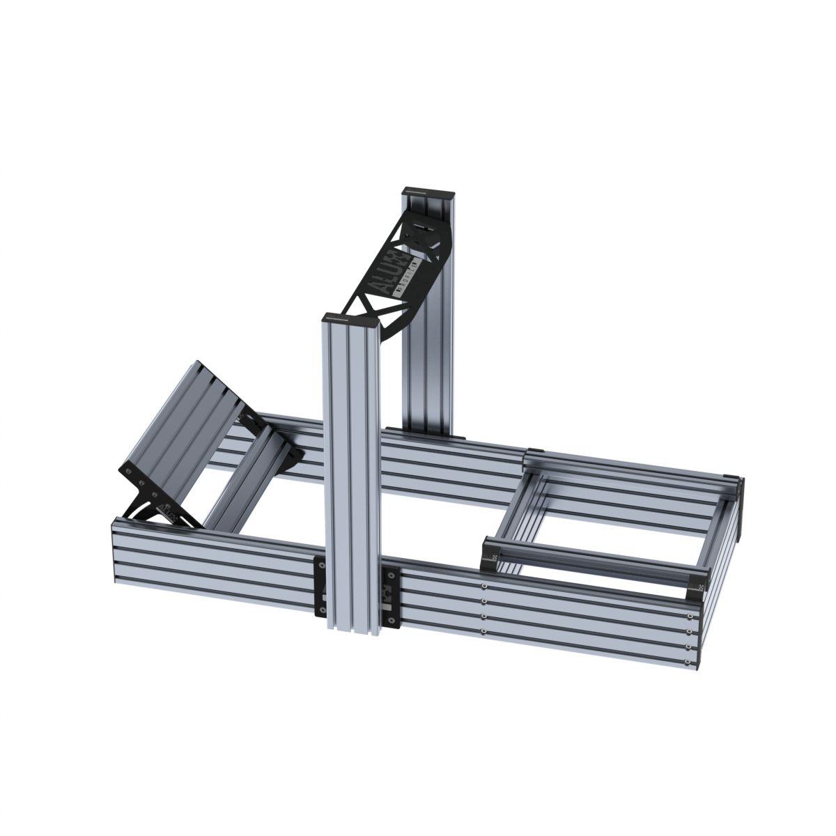 aluminium sim rig zilver