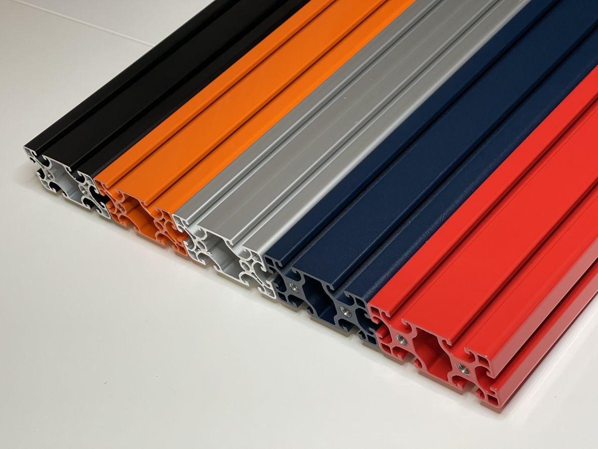 aluminium constructieprofiel kleur