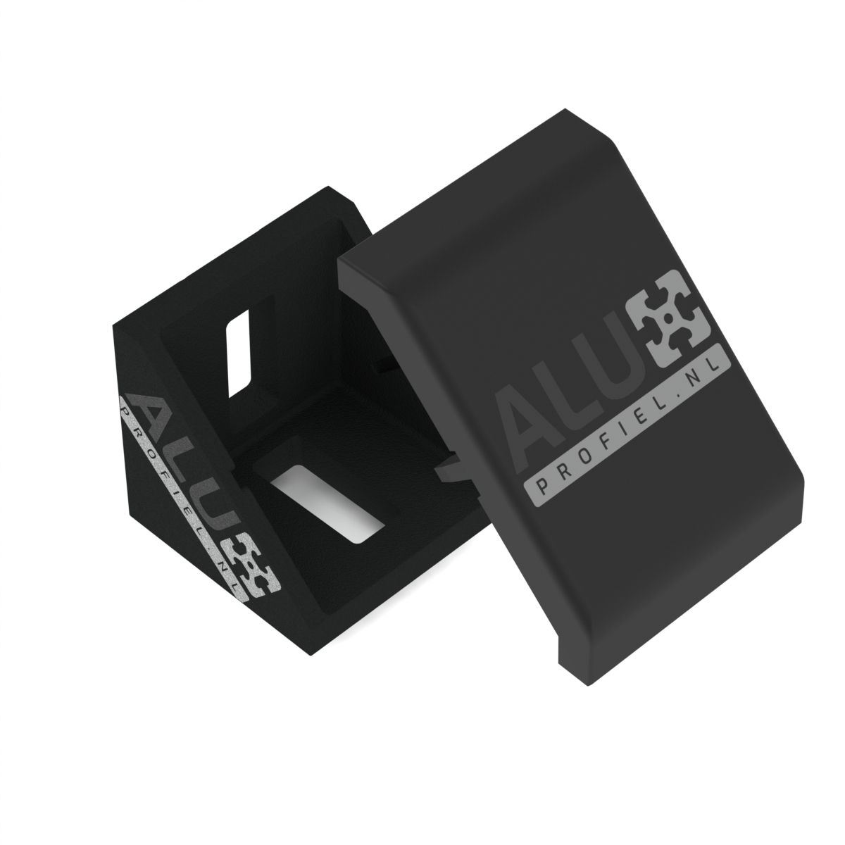 verbindingshoek 4040 zwart afdekkap