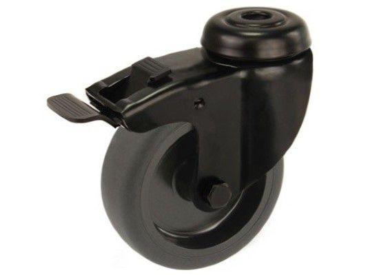 zwenkwiel zwart 75mm rem